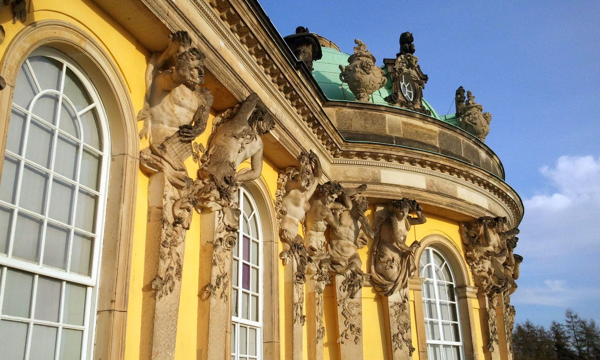Schloss Sanssouci Detail - Reiseservice Potsdam